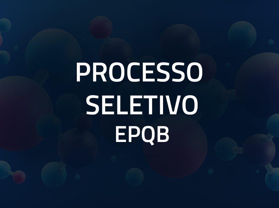 processo seletivo epqb